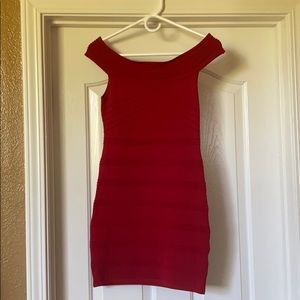🥥3/23$ Forever21 dress-bodycon Red S